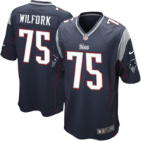 Nike Vince Wilfork New England Patriots Youth Game Jersey - Navy Blue - http://www.shareasale.com/m-pr.cfm?merchantID=7124&userID=1042934&productID=520897601 / New England Patriots