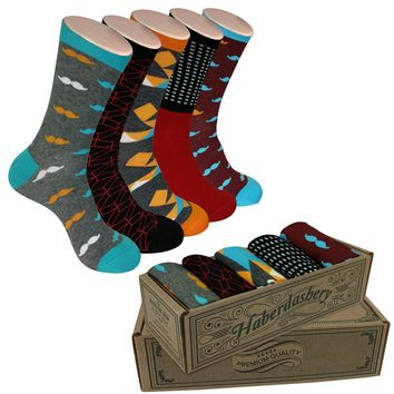 5 Pair Men's Power Socks - Haberdashery Set-4 Collection