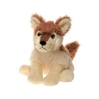 "9.5"" Stuffed Red Wolf Plush Animal North American Forest Collection"