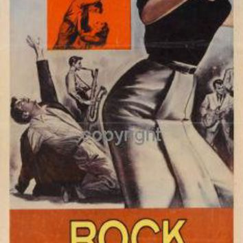 Rock All Night Insert Movie Poster 14X36