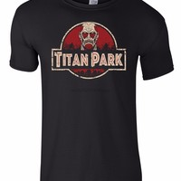 Cool Attack on Titan Manga  T-Shirt  PARK Men Geek T-Shirt AT_90_11