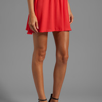 Donna Mizani Circlet Skirt in Red
