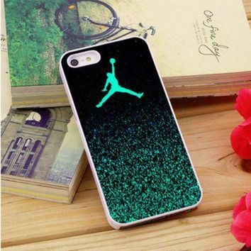 CREYUG7 Nike Air Jordan Jump Mint Glitter iPhone 5|5S|5C Case Auroid