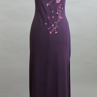 Vintage 1990 Long Purple Dreams Cocktail Dress