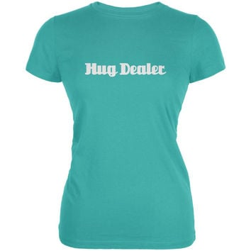 Hug Dealer Teal Juniors Soft T-Shirt