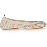 Yosi Samra Snake-effect leather ballet flats – 45% at THE OUTNET.COM