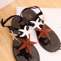 Triple Starfish Flat Sandals for Women from topsales