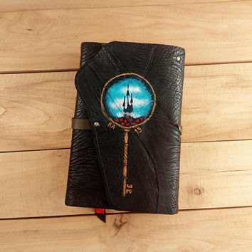 Dark Tower leather book cover / Gifts for book lovers / Stephen King / Fantasy / KA / Katet / Bookworm / Constant Reader