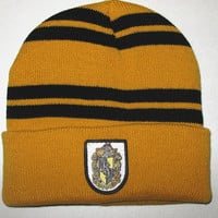Harry Potter Caps Gryffindor Slytherin Ravenclaw Hufflepuff Cosplay Gorro Hat Men Women Hat Warm Winter Cap