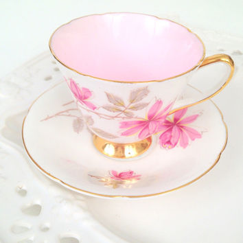 Vintage Old Royal English Bone China Tea Cup and Saucer Tea Party Cottage Style - Ca. 1960's