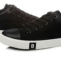 Low Canvas Sneakers Black