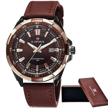 Fashionable Leather Sport Watch For Men