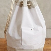 Hamper Tote by Anthropologie Beige One Size Bags