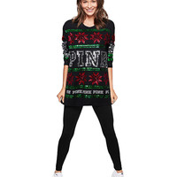 Bling Long Sleeve Campus Tee - PINK - Victoria's Secret
