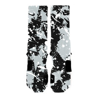 Custom Nike Elite Socks KD LeBron Kobe All Sizes HoopSwagg SPURS SPLATTER