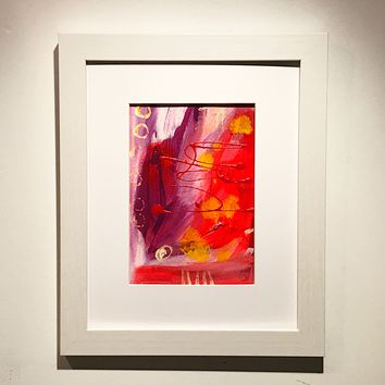 001 Original Abstract  Art on Paper. Free-shipping within USA.