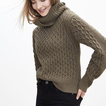 Banana Republic Honeycomb Turtleneck Sweater Pullover