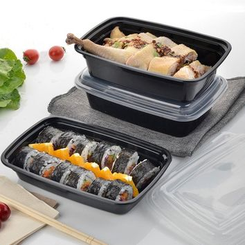 Microwave Oven Applicable Lunchbox Meal Prep Container 10Pcs Plastic Home Reusable Food Fruits Storage Box Case 750ml
