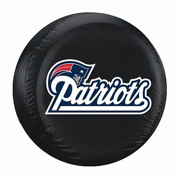 New England Patriots Black Tire Cover - Standard Size