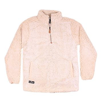 Sherpa Pullover in Cream by Simply Southern