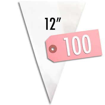 """12"""" Disposable Decorating Bags - 100"""
