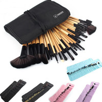 32Pcs Set Professional Makeup Brush Set Foundation Eye Face Shadows Lipsticks Powder Make Up Brushes Kit Tools + Bag Gift