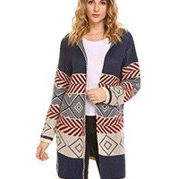 Women's Oversized Long Open Front Soft Knit Cardigan Sweater