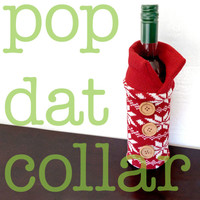 Knit Ugly Christmas Sweater Wine Bottle Cozy