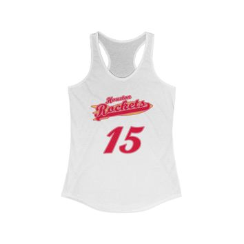 Houston Basketball #15 City Spirit Jersey Women's Ideal Racerback Tank