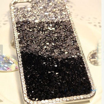rhinestone iphone 5s case Bling iphone 4 case custom iphone 5 case glitter iPhone 5 case glitter iPhone 4 case bling Samsung galaxy s3 case