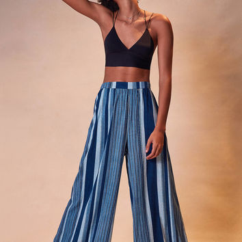 Ecote Gauzy Striped Wide-Leg Pant | Urban Outfitters