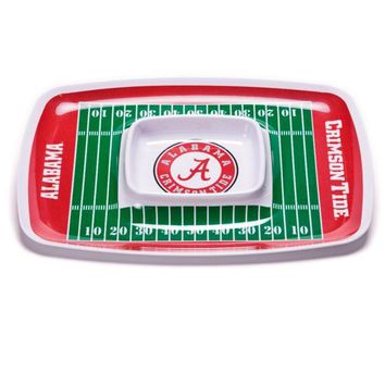 DCCKG8Q NCAA Alabama Crimson Tide Chip & Dip Tray