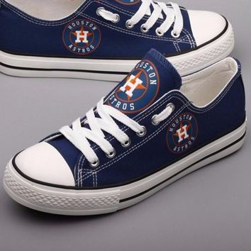 Houston Astros Custom Canvas Shoes