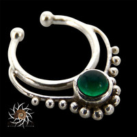 Fake Septum Ring - Faux Septum Ring - Fake Septum Piercing - Clip On Piercing - Clip On Septum - Septum Jewelry - Nose Jewelry - Silver
