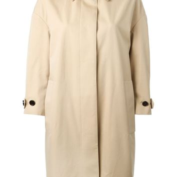 Burberry London gold collar trench coat