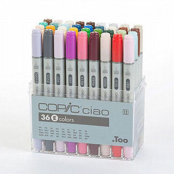 Too. Copic Marker Set - Ciao 36 Colors Pen Set E - Japan Drawing Markers, Anime, Animation, Manga Art Supplies - Non-Toxic, Entry Model