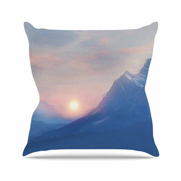 "Viviana Gonzalez ""Pastel Vibes 08 "" Blue Pink  Throw Pillow"