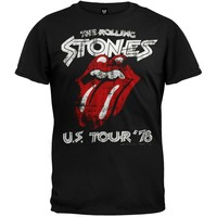 Rolling Stones - US Tour 78 Charcoal Soft T-Shirt