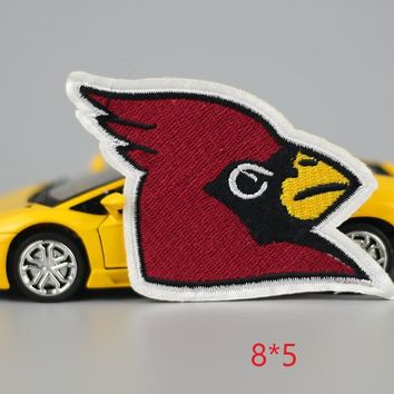 HOT sale 1PC fashion eagle head red Iron On Embroidered Patch For Cloth Cartoon Badge Garment Appliques DIY Accessory