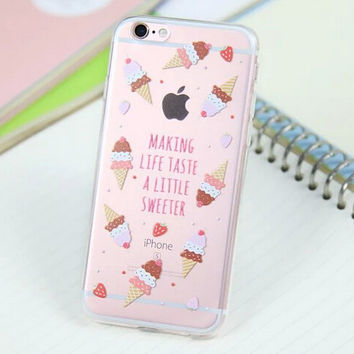 Cute Ice-cream Cone Case for iPhone 5s 5se 6 6s Plus Gift 318
