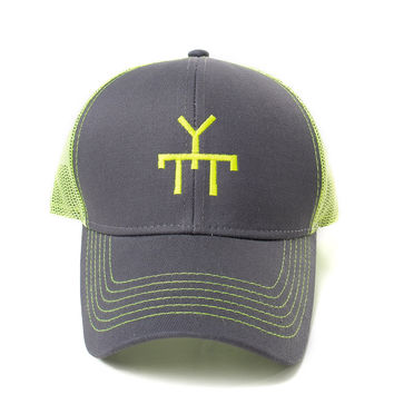 Neon Green Yes to Texas Brand Snapback Trucker Hat