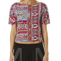 TIGERLILY PASHMINA TOP - ROUGE