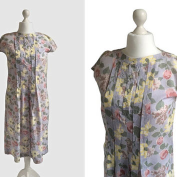 Vintage Horrockses Smock - Floral Print Cotton Dress