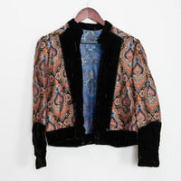 Cool Tapestry+Velvet Jacket — Bib + Tuck