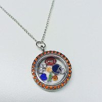 UF Florida Gators Floating Charm Necklace
