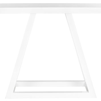 Sutton Lacquer Console in White design by Safavieh