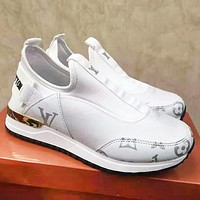 Louis Vuitton LV Slip-On Fashion Women Casual Sport Shoes Sneakers White