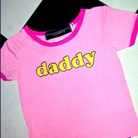 SWEET LORD O'MIGHTY! OG DADDY RINGER TEE IN PINK