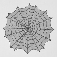 Spider Web Round Topper