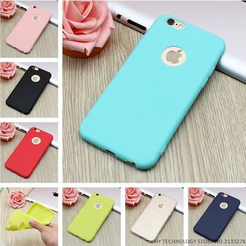 New Arrival Silicon Case For iPhones Candy Colors